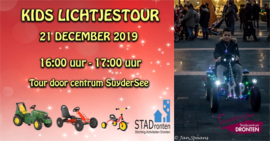 Kids Lichtjestour in Dronten 21 december